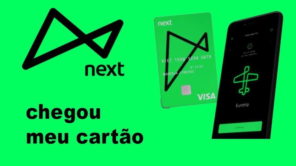 cartão de débito Next